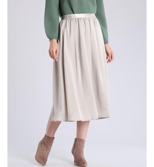 【スーペリアクローゼット/SUPERIOR CLOSET】 とろみフレアスカート