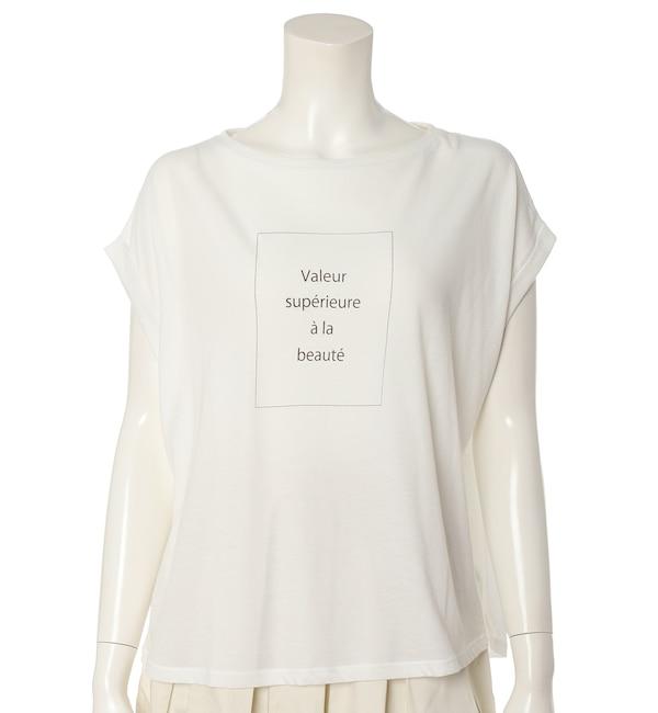 【エフデーゼ/EFDEISEE】 《大きいサイズ》フレンチスリーブプリントTシャツ《マシュふわ(R)》
