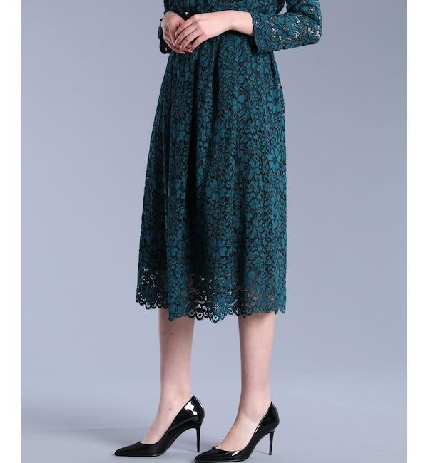 【エフデーゼ/EFDEISEE】 《Maglie White》デイジーレースギャザースカート
