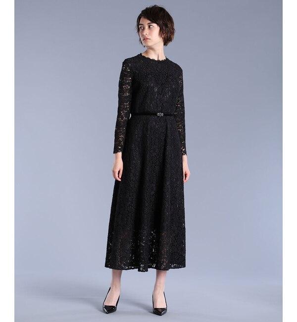 【エフデーゼ/EFDEISEE】 《Maglie White》コードレースロングドレス