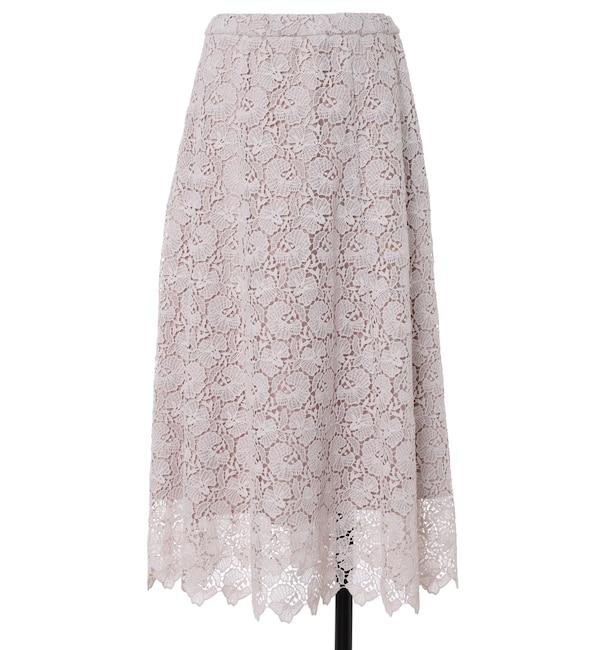 【エフデーゼ/EFDEISEE】 《大きいサイズ》トルコレーススカート 《Maglie White》