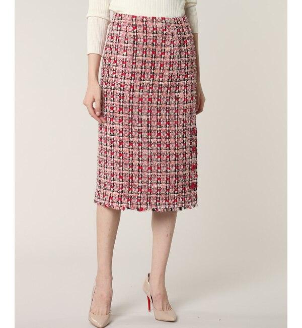【エフデーゼ/EFDEISEE】 《M Maglie le cassetto》ファンシーツイードタイトスカート