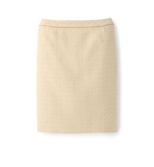 【アンタイトル/UNTITLED】 [L]テープ使いツイードスカート [送料無料]