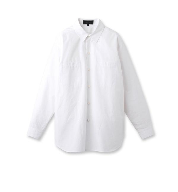 【アンタイトル/UNTITLED】 ビッグフォルムコットンシャツ [送料無料]