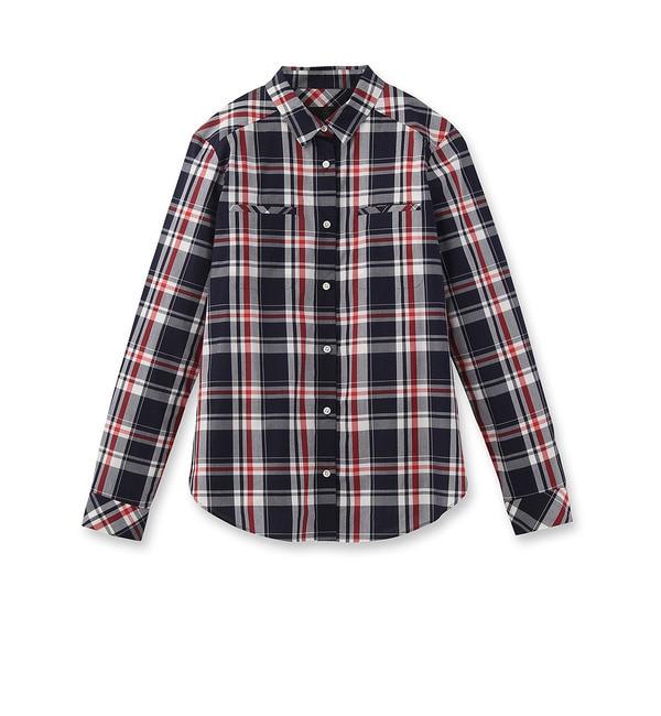 【アンタイトル/UNTITLED】 ◆[L]マドラスチェックシャツ [送料無料]