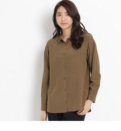 【アンタイトル/UNTITLED】[L]シルクとろみシャツ[送料無料]