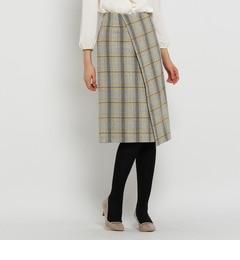 【アンタイトル/UNTITLED】 ファブリカメリノラップ風スカート [送料無料]