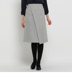 【アンタイトル/UNTITLED】 [L]ファブリカメリノラップ風スカート [送料無料]