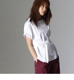 【アンタイトル/UNTITLED】 [L]〔洗える〕オフタートル風ベルテッドシャツ [送料無料]