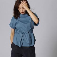 【アンタイトル/UNTITLED】 〔洗える〕オフタートル風ベルテッドシャツ [送料無料]