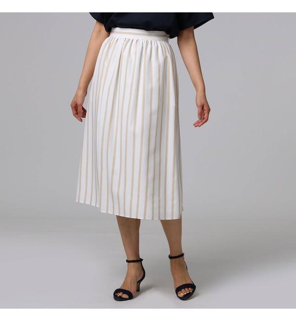 【アンタイトル/UNTITLED】 フレスコストライプ スカート