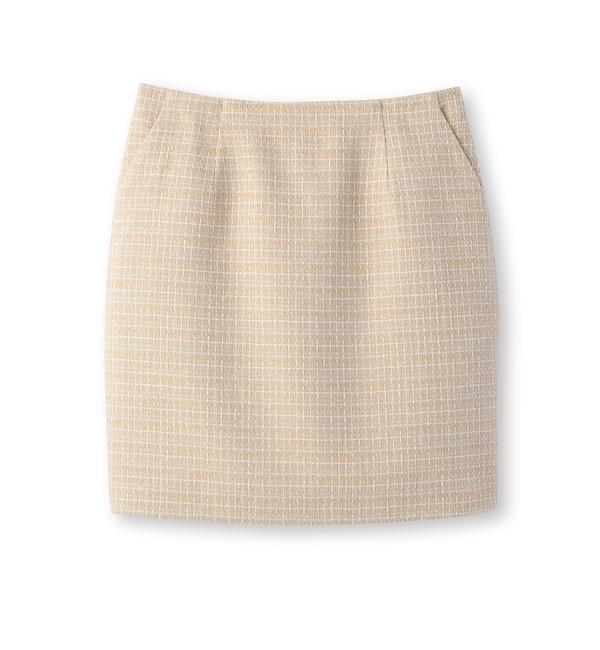 【クード シャンス/COUP DE CHANCE】 チェックツイードスカート [送料無料]