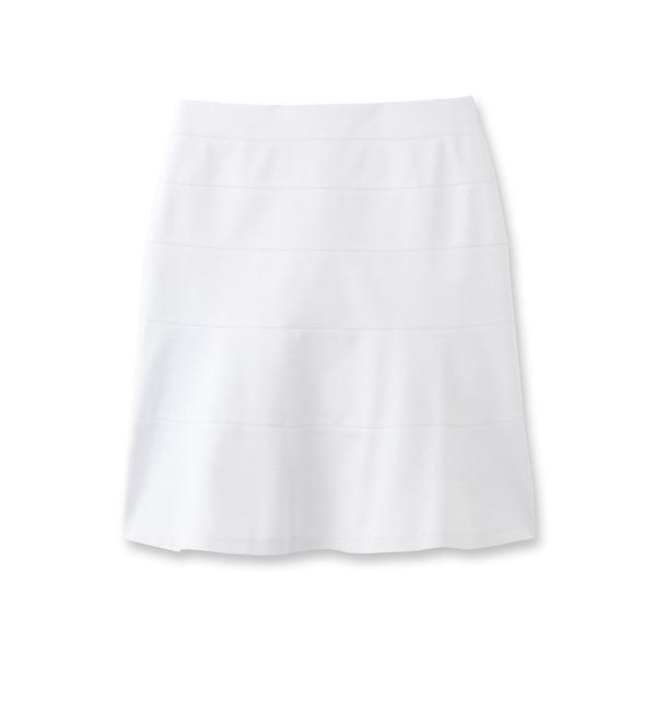 【クード シャンス/COUP DE CHANCE】 切り替え台形スカート [送料無料]
