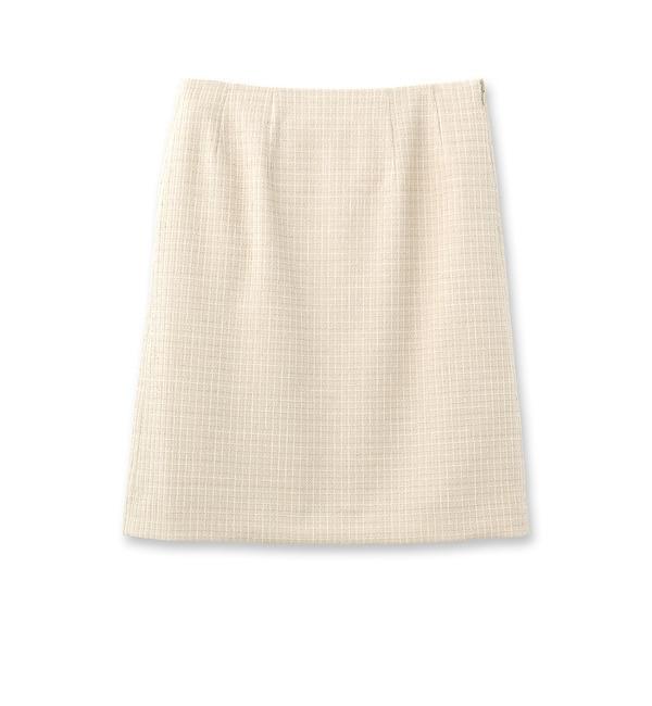 【クード シャンス/COUP DE CHANCE】 ラメツイード風スカート [送料無料]