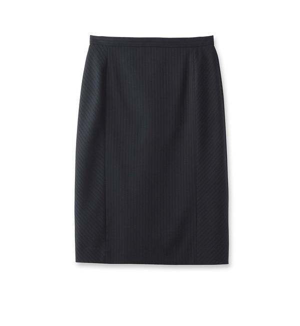 【クード シャンス/COUP DE CHANCE】 シャドーストライプタイトスカート [送料無料]