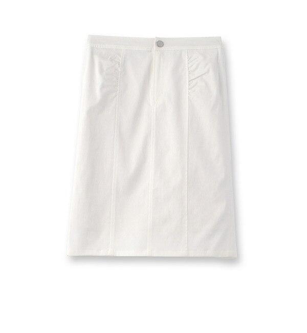 【クード シャンス/COUP DE CHANCE】 サテンタイトスカート [送料無料]