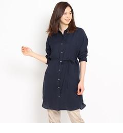 【クードシャンス/COUPDECHANCE】ベルテッドロングシャツ[送料無料]