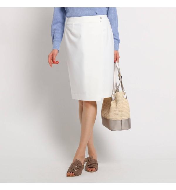 【クード シャンス/COUP DE CHANCE】 【洗える】キルナジャージ巻きスカート