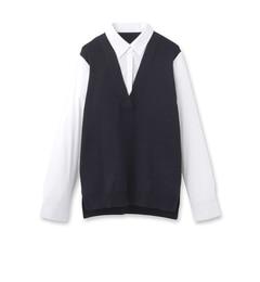 【リフレクト/Reflect】Vネックニットドッキングシャツ[送料無料]