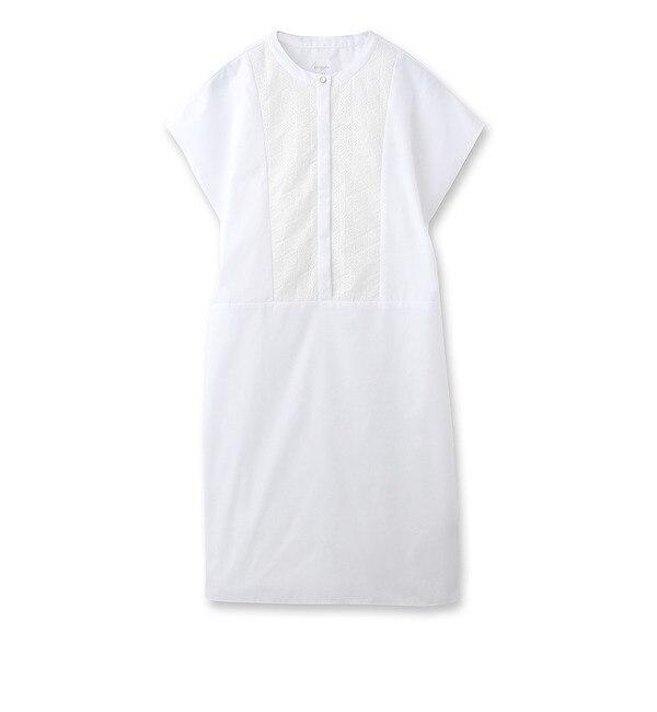 【スーナウーナ/SunaUna】 フロント刺繍ブロードワンピース [送料無料]