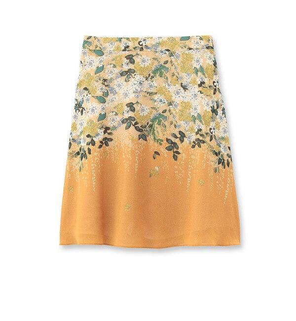 【スーナウーナ/SunaUna】 透け素材フラワー柄スカート [送料無料]