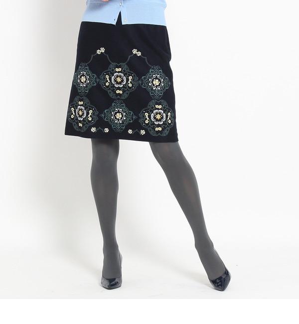 【スーナウーナ/SunaUna】 マラケシュ柄刺繍スカート [送料無料]