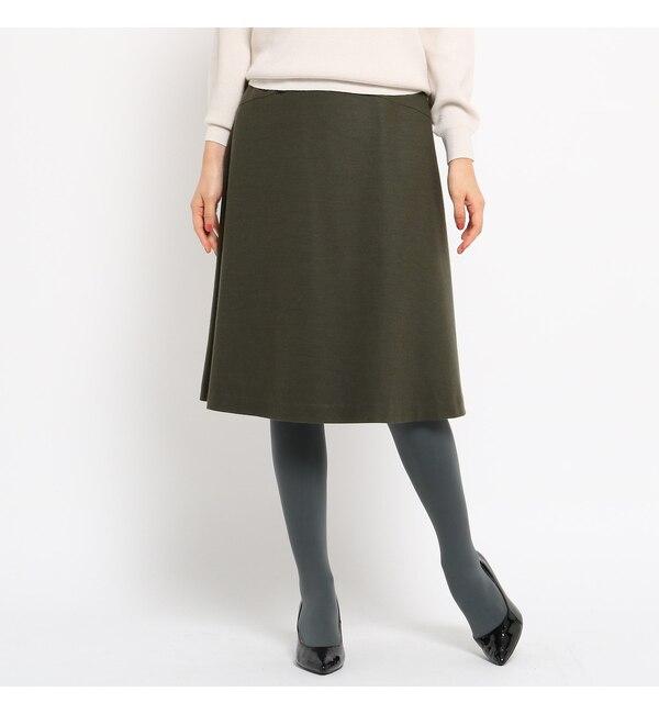 【スーナウーナ/SunaUna】 【洗える】圧縮ウールフレアスカート