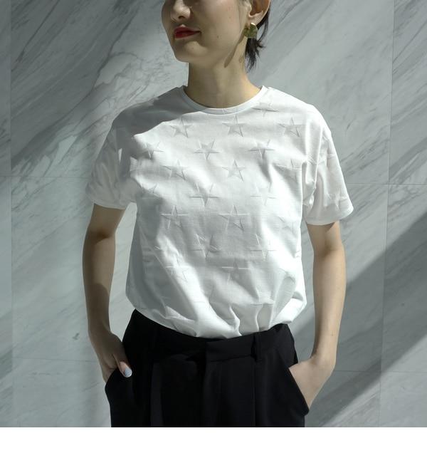 【洗える】リンクスニット トゥインクルT【ドレステリア/DRESSTERIOR レディス Tシャツ・カットソー ホワイト(001) ルミネ LUMINE】