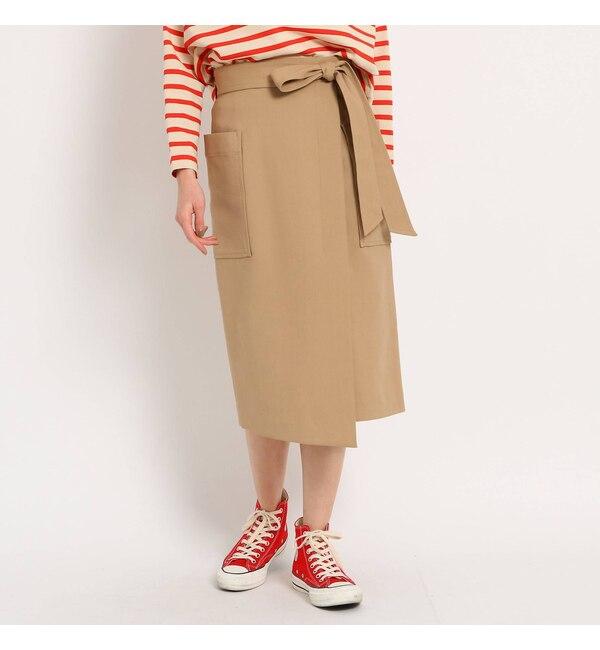【ドレステリア/DRESSTERIOR 】 【WEB限定Lサイズあり】コットンBIGポケットラップスカート