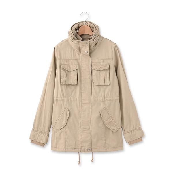 【オゾック/OZOC】 ドロストデザインミリタリージャケット [3000円(税込)以上で送料無料]