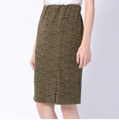 エスニックポンチタイトスカート【オゾック/OZOC スカート】
