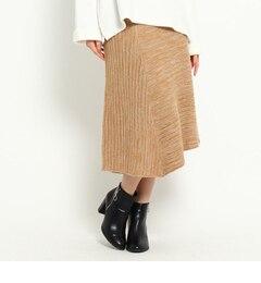 【オゾック/OZOC】 イレギュラーヘムニットスカート [3000円(税込)以上で送料無料]