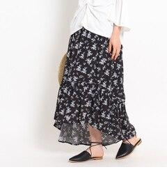 【オゾック/OZOC】 花柄マーメイドスカート [送料無料]
