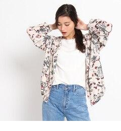 【オゾック/OZOC】花柄ブルゾンジャケット[送料無料]