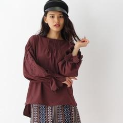【オゾック/OZOC】 袖刺繍キャンディースリーブブラウス [3000円(税込)以上で送料無料]