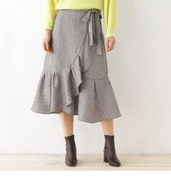 【オゾック/OZOC】 巻き風フリルマーメイドスカート [送料無料]