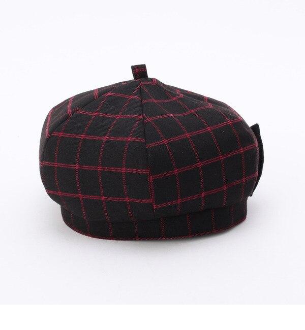 【グローブ/grove】 ウインドウペンチェックベレー帽 [3000円(税込)以上で送料無料]