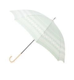 【グローブ/grove】 ストライプレース晴雨兼用長傘 [3000円(税込)以上で送料無料]