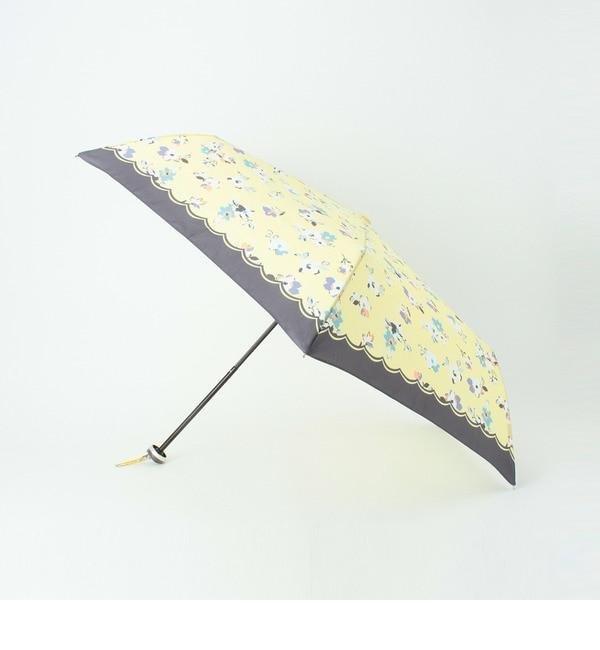 【グローブ/grove】 晴雨兼用ストラップケース付フラワー折りたたみ傘 [3000円(税込)以上で送料無料]