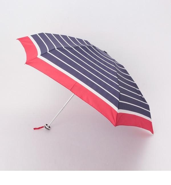 【グローブ/grove】 配色ボーダー晴雨兼用折り畳み傘 [3000円(税込)以上で送料無料]
