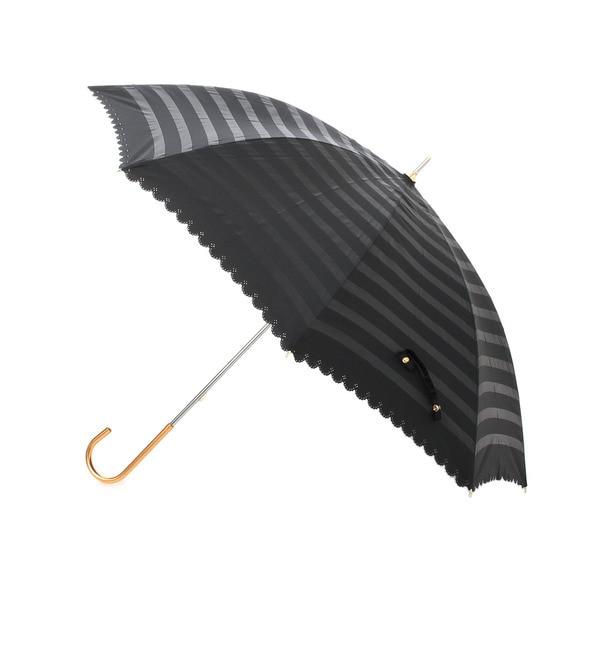 【グローブ/grove】 遮光オパールボーダー長傘 [3000円(税込)以上で送料無料]