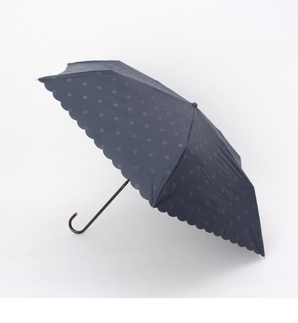 【グローブ/grove】 ドット柄晴雨兼用折り畳み傘 [3000円(税込)以上で送料無料]