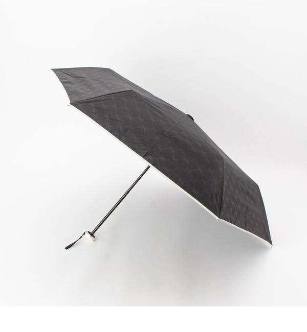 【グローブ/grove】 リボンチェック晴雨兼用折り畳み傘 [3000円(税込)以上で送料無料]