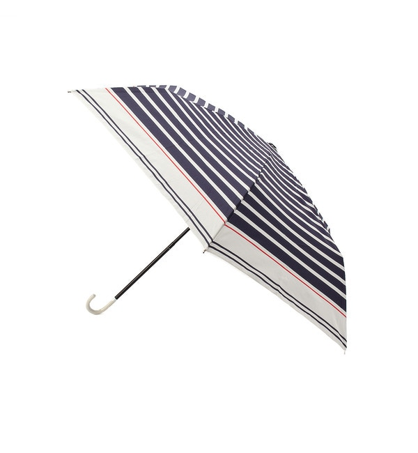 【グローブ/grove】 セーラーボーダー折りたたみ傘(晴雨兼用) [3000円(税込)以上で送料無料]
