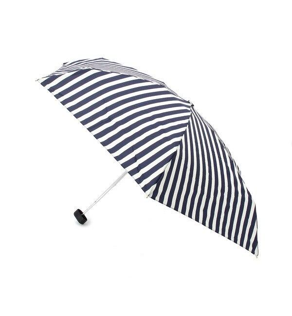 【グローブ/grove】 リボンチャームストライプ晴雨兼用折りたたみ傘 [3000円(税込)以上で送料無料]