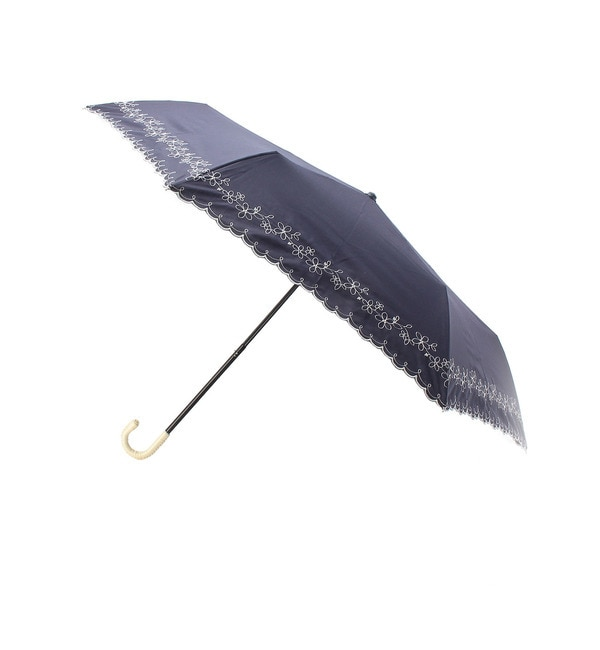 【グローブ/grove】 フラワー刺繍晴雨兼用ミニパラソル [3000円(税込)以上で送料無料]