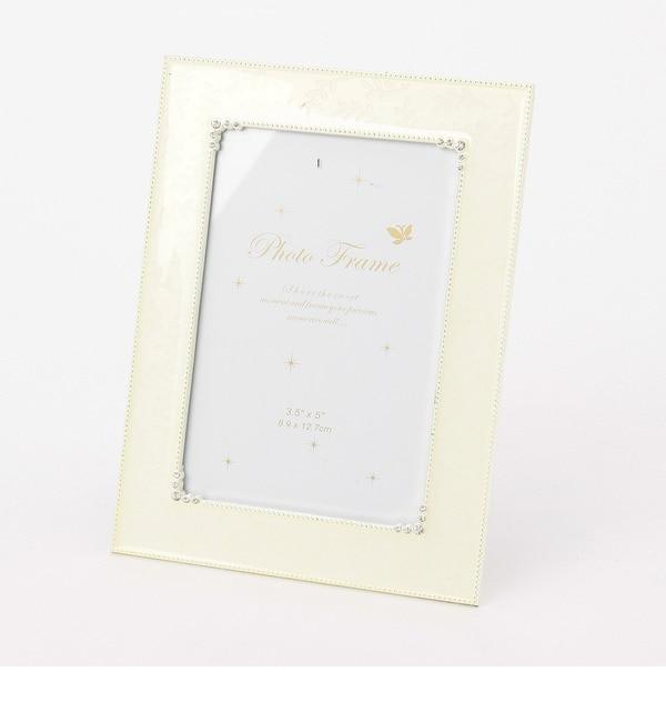 【グローブ/grove】 フォトフレーム クリスタルホワイト [3000円(税込)以上で送料無料]