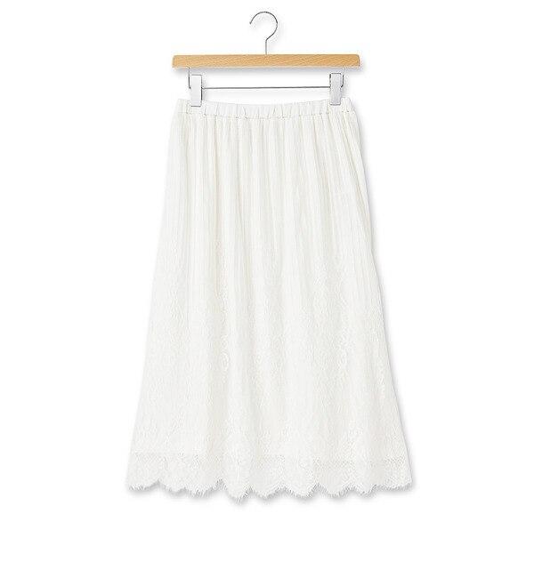 【グローブ/grove】 チュールレースギャザースカート [3000円(税込)以上で送料無料]