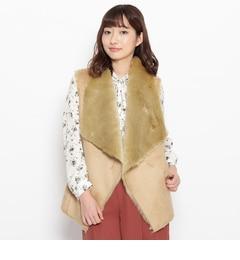 【グローブ/grove】フェイクムートンベストジャケット[送料無料]