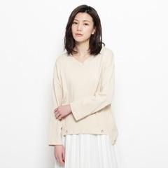 【グローブ/grove】 裾ハトメ付きニットプルオーバー [3000円(税込)以上で送料無料]